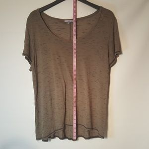 Charlotte Russe Tops - Charlotte Russe See Through Scoop Neck Brown 2XL